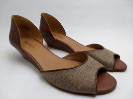 Nine West Vivie Peep Toe Small Wedge Womens Size 8.5M Slip-On Slide Loaf... - €19,52 EUR