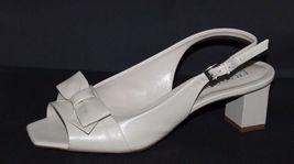 Franco Sarto Héritage Femmes Talons Chaussures en Cuir Beige Taille 6M image 3