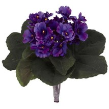 Indoor 9 in. African Violet Artificial Plant (Set of 6) - $72.74