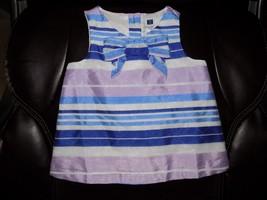 Janie & Jack Easter Purple Blue Striped Dress Size 18/24 Months Girl's EUC - $18.72