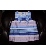 Janie & Jack Easter Purple Blue Striped Dress Size 18/24 Months Girl's EUC - $19.44