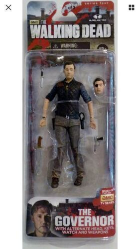 "Primary image for THE GOVERNOR The Walking Dead amc TV Show 5"" inch Figure McFarlane Series 4 2013"