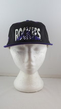 Colorado Rockies Hat (VTG) - Logo Blend Script Front - Adult Sanpback - $49.00