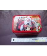 tin box Santa Claus picture - $1.00