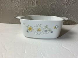 Corning Ware Vintage Floral Bouquet Daisy Casserole Dish 1 1/2 Quart Wit... - $9.46