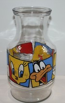 Warner Brothers Looney Tunes Glass Carafe 1994 Vintage  - $17.41
