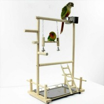 Parrot Playstands With Cup Toys Tray Bird Swing Climbing Hanging Ladder ... - £38.65 GBP