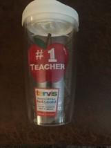 Tervis Travel Mug - #1 Teacher 16 oz - School Apple NWT - $16.82