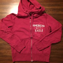 American Eagle Outfitters Maroon Red Hoodie Size Large L/G Full Zip Front - $6.79