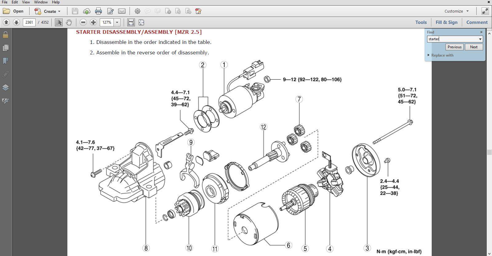 Mazda 3 Service Manual: Non Return Valve Inspection Mzr 2.0, Mzr 2.5
