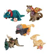 TY Beanie Babies - DINOSAURS & DRAGONS (Set of 5) (Hornsly, Scorch, Slay... - $49.45