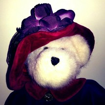 Boyds Red Hat Society Bear Plush Toy 12″ Ms Rouge Chapeau Purple Red Retired - $21.24