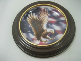 Vintage Framed Decorative Plate The American Eagle Plate Ronald Van Ruyc... - $13.06