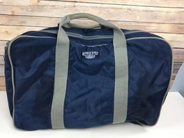 Vtg Lands End Lighthouse Travel Bag Suitcase Carry On Blue 24x16x8 USA - $56.06