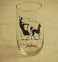 Gay Nineties Roly Poly Clear Anchor Hocking Drinking Glass Horse & Buggy... - $12.86