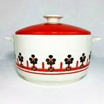 Royal Doulton Kaleidoscope Casserole Dish Lid 2 Quart QT Orange MCM Made... - $31.63