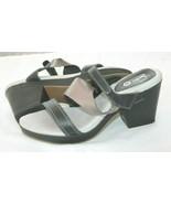 Jambu Jasmine JBU Black Metallic Gray Leather Ankle Strap Sandals Sz US ... - $24.75