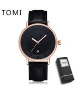 Tomi® Men Watch Luxury Leather Strap Sport Quartz Wristwatch Waterproof ... - $17.13