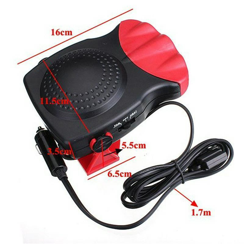 Car Heating and Cooling Fan 150W 12V Portable Demister Defroster Windscreen Fan