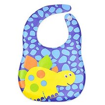 2 Pcs Cartoon Dinosaur Soft and Comfortable Baby Bibs Waterproof Pocket