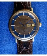 Lucien Piccard 36000 Seashark Men's Automatic 14K Gold Day/Date Wristwatch    - $950.00