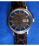 Lucien Piccard 36000 Seashark Men's Automatic 14K Gold Day/Date Wristwat... - $950.00