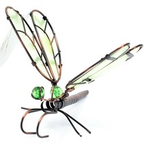 Dragonfly with Glow in the Dark Wing Pot Edge Sitter on Hook Garden Decoration image 2