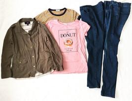 Nice 8 Pc Lot Girls Clothing Forever 21 Disney Sz 13/14 L 14 Jacket Tees... - $15.79