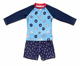 BonveranoTM Big Boys Rashguards UPF 50+ Sun Protection Two Pieces Swimwe... - $22.93