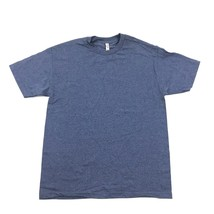 NEW Blue T-shirt Sz L Large Polyester Cotton Tee Blue Heather Alstyle Lo... - $9.49