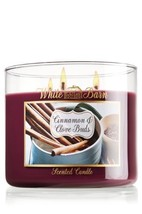 1 X Bath and Body Works Cinnamon & Clove Buds 3 Wick Scented Candle 14.5... - $50.00