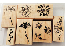 Stampin' Up! Floral Rubber Wood Mounted Stamp Set