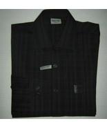 Kenneth Cole Reaction Techni-Cole Slim Fit Shirt Gray Plaid Garnet 15.5 ... - $19.75