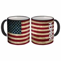 HOPPER Family Name : American Flag Gift Mug Name USA United States Perso... - $13.37+