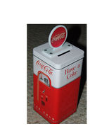 Coca-Cola Vending Machine Tin Bank - $8.50