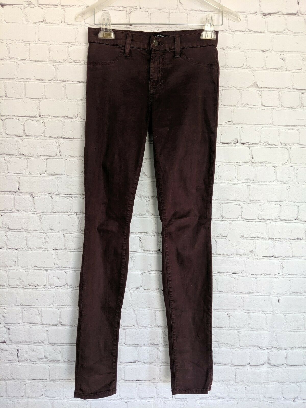 J.BRAND | Women's Size 25 Super Skinny Pinot Purple Jeans Pants Stretch image 2