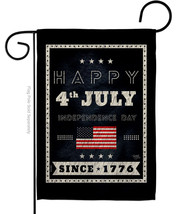 Happy 4th July - Impressions Decorative Garden Flag G161095-BO - $19.97