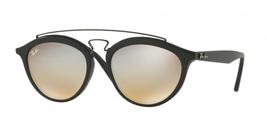 Ray Ban Gatsby II Sunglasses RB 4257 c. 6253/B8 Matte Black Silver Mirror 50mm - $112.19