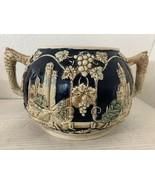 Wick-Werke Stoneware Pottery Cobalt Blue Tureen-Punch Bowl Germany - $32.38