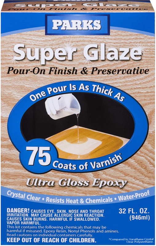 Parks Super Glaze 241352 Ultra Glossy Epoxy Finish and Preservative Kit Clear - $38.89