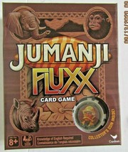 New Jumanji Fluxx Card Game with Collector's Coin Sealed ready for family fun! - $12.99
