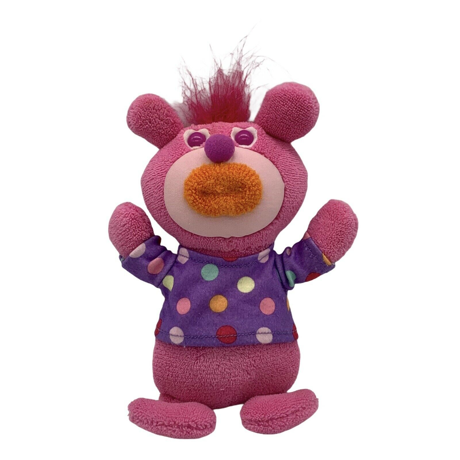Primary image for Sing a Ma Jig Plush Singing Fisher Price Mattel Pink Orange Lip Purple Polka Dot