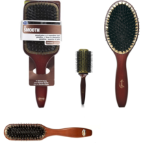 NEW NWT Goody Smooth Blends Ceramic Cushion Hot Brush Solid Wood - $9.79+