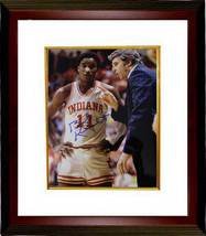 Bobby Knight signed Indiana Hoosiers 8x10 Photo Custom Framed w/ Isiah T... - $123.95