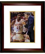 Bobby Knight signed Indiana Hoosiers 8x10 Photo Custom Framed w/ Isiah T... - $123.95