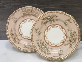 """Pair Antique Spode Felspar 8 7/8"""" Plates 4120 - $84.15"""