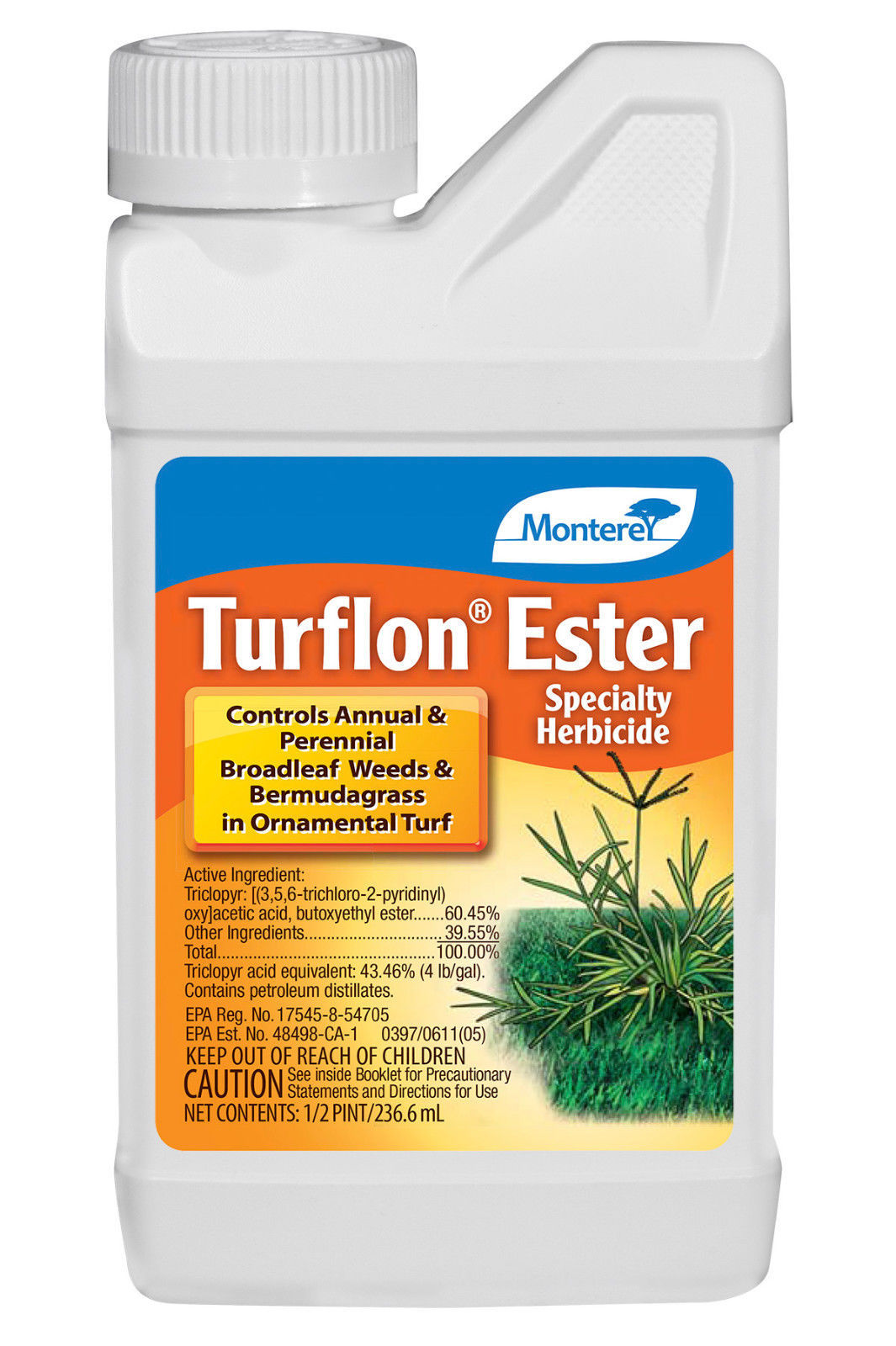 Turflon Ester Herbicide 8 oz. Annual Perennial Broadleaf  Weeds and Bermudagrass