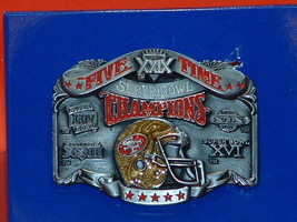 Pre-Owned 49ERS Five Time Super Bowl Champions Belt Buckle - $28.71