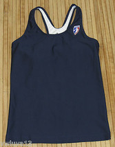New Womens Adidas WNBA Long Sports Bra Compression Tank Top Dark Navy Bl... - $17.81