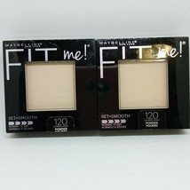SET of 2 Maybelline Classic Ivory Fit Me! Powder 120 Set + Smooth Free S... - $15.89